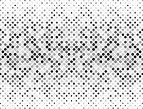 半音小点、黑色和灰色在白色背景 您的设计的半音背景 免版税库存图片