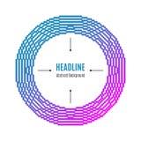半音框架 与小点背景摘要传染媒介的现代圆的框架 库存图片