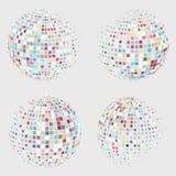 半音球形传染媒介商标模板的汇集 向量例证