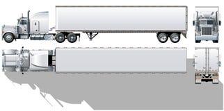 半货物卡车向量 免版税库存图片