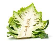半绿色新鲜的罗马式花椰菜 图库摄影