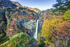 华严瀑布在日本 免版税库存照片