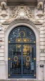 华丽伪造的门在安特卫普 免版税图库摄影