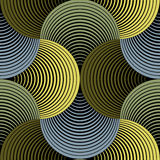 华丽几何瓣栅格传染媒介无缝的样式 向量例证