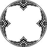 华丽凯尔特弧和圆的边界 皇族释放例证