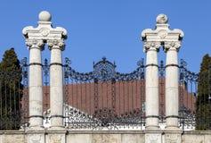 华丽加工的篱芭在布达佩斯 库存图片