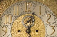 华丽古色古香的时钟 免版税库存照片