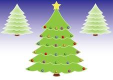 华丽圣诞树 免版税图库摄影
