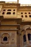 华丽地被雕刻的haveli, Jaisalmer,拉贾斯坦,  库存照片
