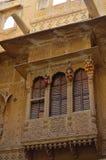 华丽地被雕刻的haveli, Jaisalmer,拉贾斯坦,  库存图片