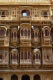 华丽地被雕刻的haveli, Jaisalmer,拉贾斯坦,  图库摄影