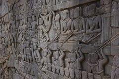 华丽墙壁雕刻 免版税库存照片