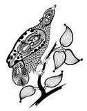 华丽墨水鸟装饰 免版税库存图片