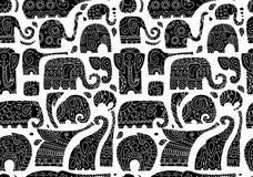 华丽大象,您的设计的无缝的样式 库存例证
