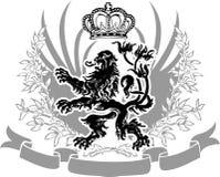 华丽横幅装饰的纹章 免版税库存图片