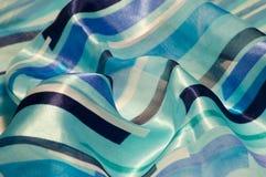 华丽蓝色的织品 库存照片