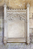 华丽被雕刻的石框架 库存图片