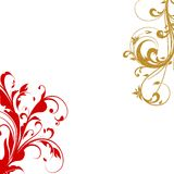 华丽金子红色漩涡 向量例证