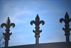 华丽铁装门的设计 免版税库存照片