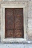 华丽门道入口,蓝色清真寺,伊斯坦布尔 免版税库存照片