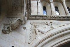 华丽雕刻的耶鲁大学 免版税库存图片
