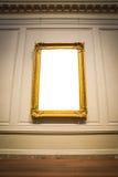 华丽画框美术画廊博物馆展览内部白色C 库存图片