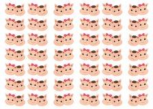 华伦泰小猪逗人喜爱的动画片 华伦泰传染媒介样式 库存例证