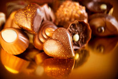 华伦泰巧克力 免版税库存照片
