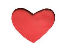 华伦泰心脏卡片设计 图库摄影