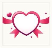 华伦泰心脏卡片设计 免版税库存图片