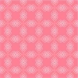 华伦泰心脏样式 与线心脏的无缝的样式 免版税库存图片