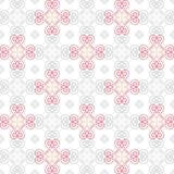 华伦泰心脏样式 与线心脏的无缝的样式 免版税图库摄影