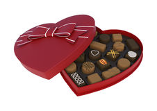 华伦泰心脏箱子 向量例证
