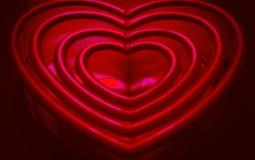 华伦泰心脏美好的红外线 免版税库存图片