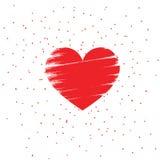 华伦泰爱心脏被隔绝的背景 免版税库存照片