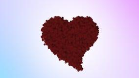 华伦泰的红色蓬松心脏 股票视频