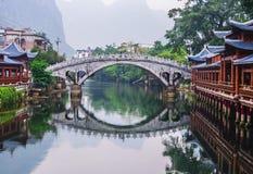 华南古老水镇  库存图片