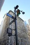 华尔街标志,纽约,美国 免版税库存照片