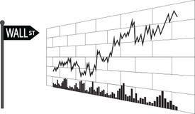 华尔街,财务墙壁  向量例证