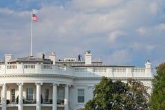 华府,美国- 2012年10月4日:白宫卫兵是wa 库存图片