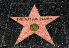 华森家庭` s星,好莱坞星光大道- 2017年8月11日, -好莱坞大道,洛杉矶,加利福尼亚,加州 免版税库存图片