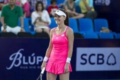 华欣泰国12月31日:没有的世界 5网球员Aginieszka Radwanska 免版税库存照片