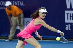 华欣泰国12月31日:没有的世界 5网球员Aginieszka Radwanska 免版税图库摄影