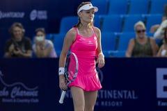 华欣泰国12月31日:没有的世界 5网球员Aginieszka Radwanska 免版税库存图片
