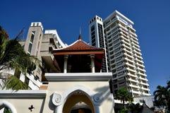 华欣,泰国:希尔顿饭店手段 库存照片