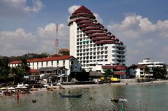 华欣,泰国:度假旅馆和海滩 库存图片