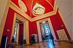 华沙、文化和科学宫殿 库存照片