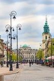 华沙历史的建筑学  库存照片