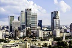 华沙商业区 免版税库存照片