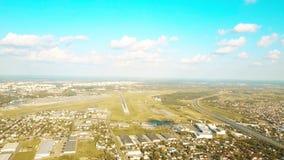 华沙国际机场,波兰旅行的空中射击  库存图片
